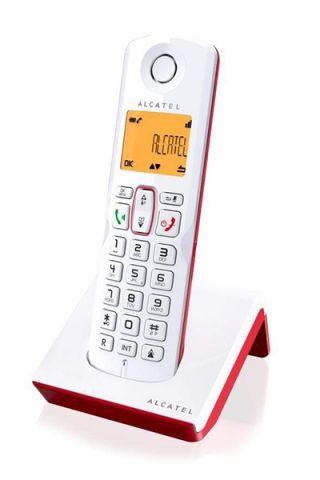 TELEFONO ALCATEL S-250 ROJO BLANCO MANOS LIBRES