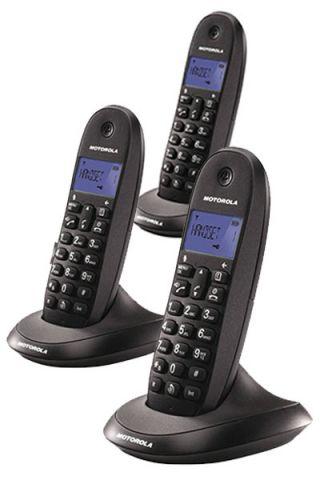TELEFONO TRIO MOTOROLA C1003 NEGRO