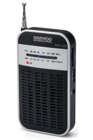 RADIO DAEWOO DRP-105 SILVER AM/FM