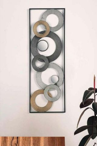 DECORACION PARED 72232 METALICA 90 CM X 31 CM