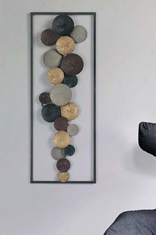 DECORACION PARED 72229 METAL MEDIDAS 75 X 29 CM