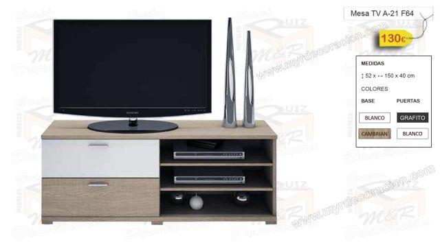 MESA TV A-21 DE ALTO 52 x ANCHO 150 x FONDO 40
