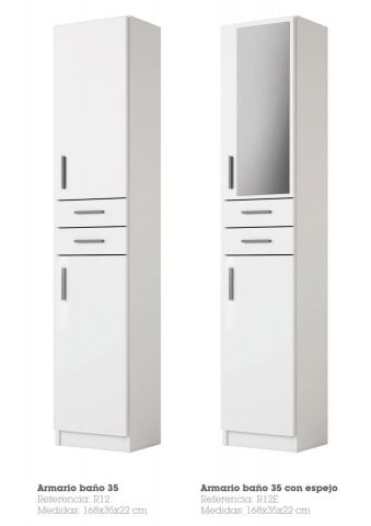 ARMARIO DE BAÑO 35 R12 COLOR BLANCO