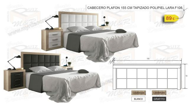CABECERO PLAFON 155 CM TAPIZADO POLIPIEL LARA
