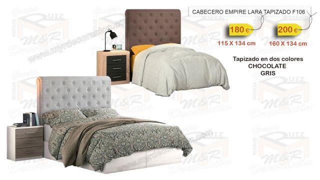 CABECERO EMPIRE TAPIZADO LARA 115 CM O 160 CM