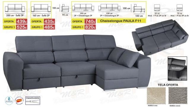 CHAISELONGUE PAULA CAMA DESENFUNDABLE