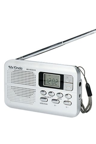 RADIO PORTATIL MX ONDA MX-RD5216 PLATA DIGITAL