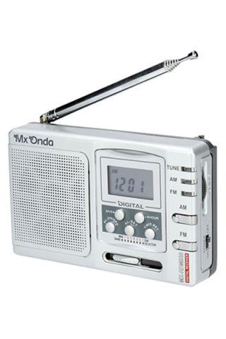 RADIO PORTATIL MXONDA RDM938 ANALOGICO PLATA