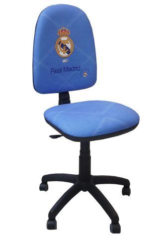 SILLA OFICINA REAL MADRID RESPALDO ALTO REGULABLE